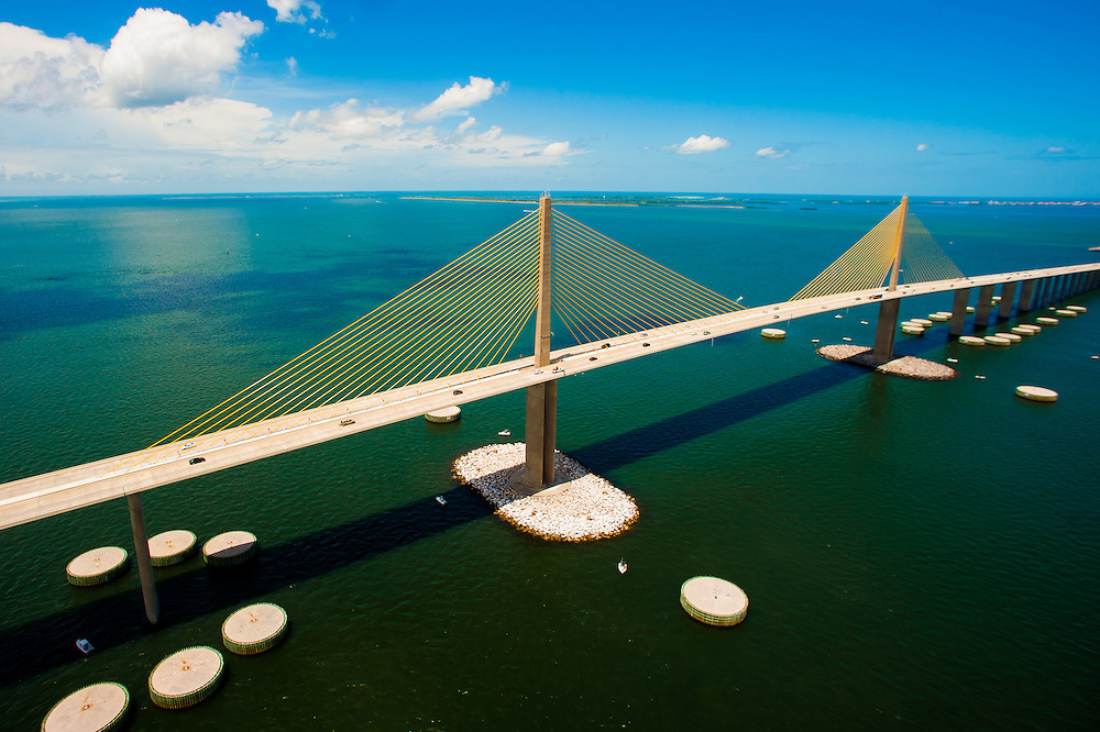 TAMPA, FLORIDA -- August 2013 -- Sunshine Skyway Bridge (PHOTO / CHIP LITHERLAND)