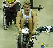© Peter Spurrier/Sports Photo +44 (0) 7973 819 551.PPP Healthcare British Indoor Rowing Championships.18th Nov. 2001.National Indoor Arena..Three quarter's through the race James Cracknell starts to feel the pain... ...........