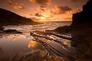 Sunrise on the Pacific Ocean, Oahu, Hawaii