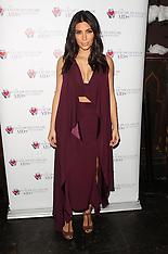 DEC 01 2014 Kim Kardashian at the Elizabeth Taylor Foundation-World AIDS Day