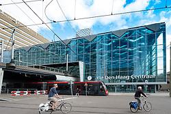 Exterior of Den Haag Central railway station after modernisation in The Hague, Netherlands
