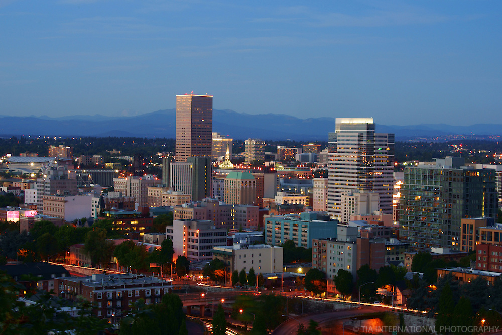 Portland Skyline @ Dusk