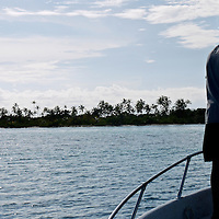 Young Kuna fisherman. San Blas Islands