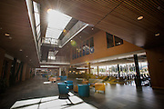 The John J. Hemmingson Center will open as students return to school this August. The facility offers over 167,000 square feet of contemporary space.<br /> <br /> Required credit (Photo courtesy Rajah Bose/Gonzaga University)