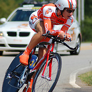 A jittery Joes rider in the US Pro Time Trial Championship