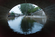 Paris . Flooding . The Seine river under the quay de la Tournelle ,