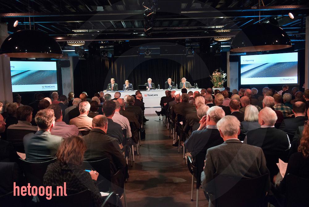 netherlands, Almelo Polmanstadion 07dec2015 comm. Hovers voorzitter Bijzondere aandeelhouders vergadering van  Ten Cate almelo over de omstreden overname door Gilde en partners.