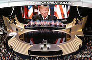 U.S. Republican Presidential Nominee Donald Trump speaks at the Republican National Convention in Cleveland, Ohio, U.S. July 21, 2016.  REUTERS/Rick Wilking   - RTSJ4C1