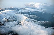 The Pyrenees covered in snow on the approach to Barcelona, Spain..Photos ©Steve Forrest
