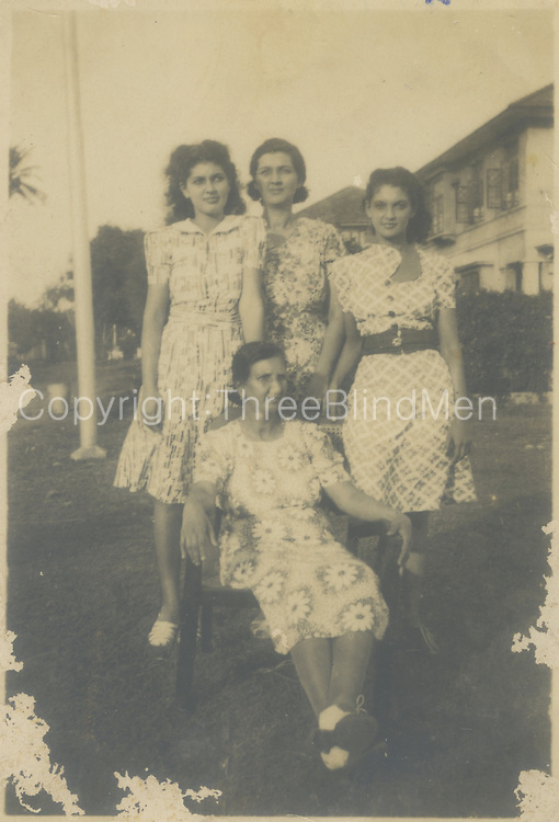 Standing at the back on the left (dress with no belt) is Merlyn Labrooy who married Maurice Van Der Stratten.<br /> <br /> Jennifer Ingleton Collection.