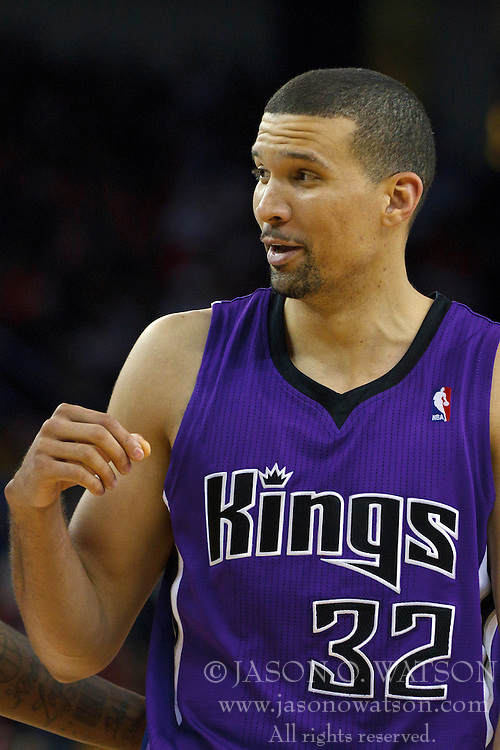 April 10, 2011; Oakland, CA, USA;  Sacramento Kings shooting guard Francisco Garcia (32) before a free throw against the Golden State Warriors during the third quarter at Oracle Arena. Sacramento defeated Golden State 104-103.
