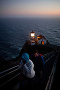 Visitors tour the lighthouse at Pt. Reyes National Seashore near Pt. Reyes, Calif., July 2, 2011.