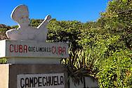 Eduardo Saborit Perez sign in Campechuela, Granma, Cuba.