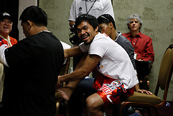 Nov 14, 2009; Las Vegas, NV, USA; Manny Pacquiao's dressing room before his 12 round bout against Miguel Cotto at the MGM Grand Garden Arena in Las Vegas, Nevada.  Mandatory Credit: Ed Mulholland/HBO