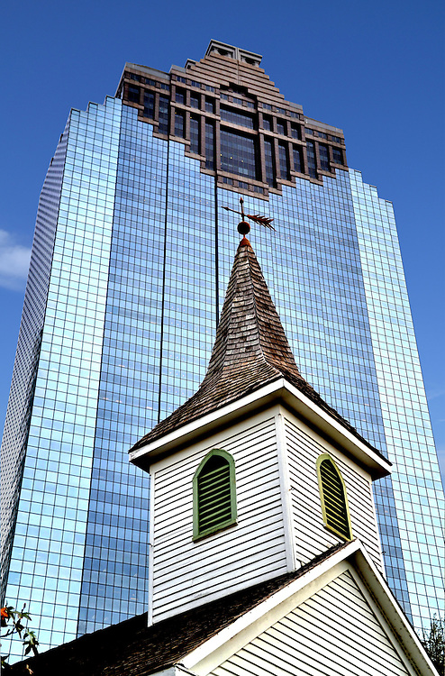 St john church steeple and heritage plaza building in for How to get a construction loan to build a house