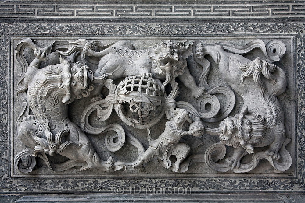 Chinese Bas Relief Wall Fine Art Landscape Photography JD
