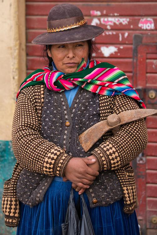 South America, Peru,Juliaca, quechua woman,
