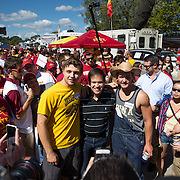AMES, IA - SEPTEMBER 12: Republican presidential candidate Sen. Marco Rubio (R-FL) meets tailgaters Saturday, Sept. 12, 2015, before the Iowa State University football game against University of Iowa outside Jack Trice Stadium in Ames, Iowa. Scott Morgan for The New York Times