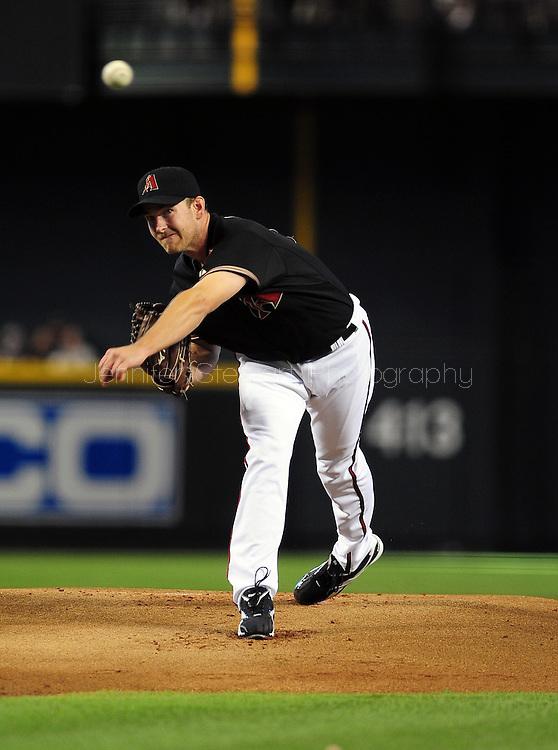 Jun. 18 2011; Phoenix, AZ, USA; Arizona Diamondbacks pitcher Zach Duke (19) delivers a pitch during the first inning against the Chicago White Sox at Chase Field. Mandatory Credit: Jennifer Stewart-US PRESSWIRE.