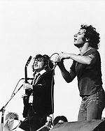 AC.DC 1980 Angus Young and Brian Johnson.© Chris Walter.