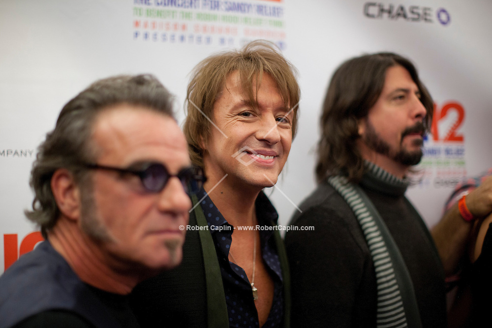 """Richie Sambora at a meet-and-greet, """"12-12-12?, a fundraising concert to aid the victims of Hurricane Sandy, will take place on December 12, 2012 at Madison Square Garden. The concert featured The Rolling Stones, Bon Jovi, Eric Clapton, Dave Grohl, Billy Joel, Alicia Keys, Chris Martin, Bruce Springsteen & the E Street Band, Eddie Vedder, Roger Waters, Kanye West, The Who, and Paul McCartney. All the proceeds went go to the Robin Hood Relief Fund. Robin Hood, the largest independent poverty fighting organization in the New York area, will insure that every cent raised will go to non-profit groups that are helping the tens of thousands.of people throughout the tri-state area who have been affected by Hurricane Sandy...Photo © Robert Caplin.."""