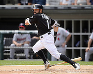 CHICAGO - JUNE 30:  Adam Eaton #1 of the Chicago White Sox bats against the Minnesota Twins on June 30, 2016 at U.S. Cellular Field in Chicago, Illinois.  The White Sox defeated the Twins 6-5.  (Photo by Ron Vesely) Subject:    Adam Eaton