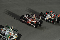 Scott Dixon, Helio Castroneves, Cafes do Brasil Indy 300, Homestead Miami Speedway, Homestead, FL USA,10/2/2010