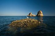 Algarve, southern coast of Portugal on Atlantic Ocean photo Piotr Gesicki Eroded rocks in the ocean near Lagos town
