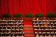 Delegates attend a plenary session of the Chinese People's Political Consultative Conference at Beijing's Great Hall of the people Beijing, China, Saturday, March 7, 2009.China's National People's Congress is a largely powerless body but it represents one of the country's last displays of old style communism. Ethnic minority delegates from around the country attend the meetings wearing traditional costumes, a conceit which allows the government to argue that the nation's different cultures co-exist harmoniously. Little is decided at these gatherings though. The NPC functions largely as a rubber stamp body for policies put forward by the Communist party's elite.