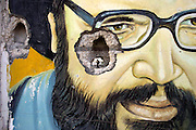 Bint Jbeil, Lebanon: Life goes on through a bullethole 