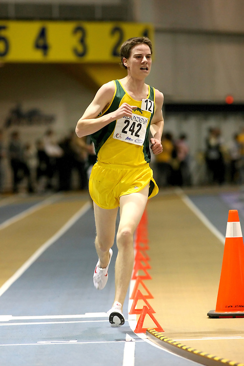 Windsor, Ontario ---13/03/09--- Kelly Wiebe of  the University of Regina competes in the 3000m Final at the CIS track and field championships in Windsor, Ontario, March 13, 2009..Sean Burges Mundo Sport Images