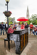 Goshen, New York - Chalk festival and piano unveiling on June 11, 2016.