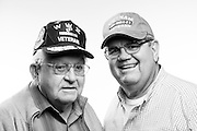 Dante Ridolfi<br /> Marine Corps<br /> Staff Sergeant<br /> WWII (Pacific)<br /> Feb. 5, 1942 - Oct. 15, 1945<br /> <br /> Stephen Ridolfi<br /> Air Force<br /> Staff Sergeant<br /> Combat Photographer<br /> Vietnam<br /> 1967-1971<br /> <br /> Veterans Portrait Project<br /> Pleasanton, California