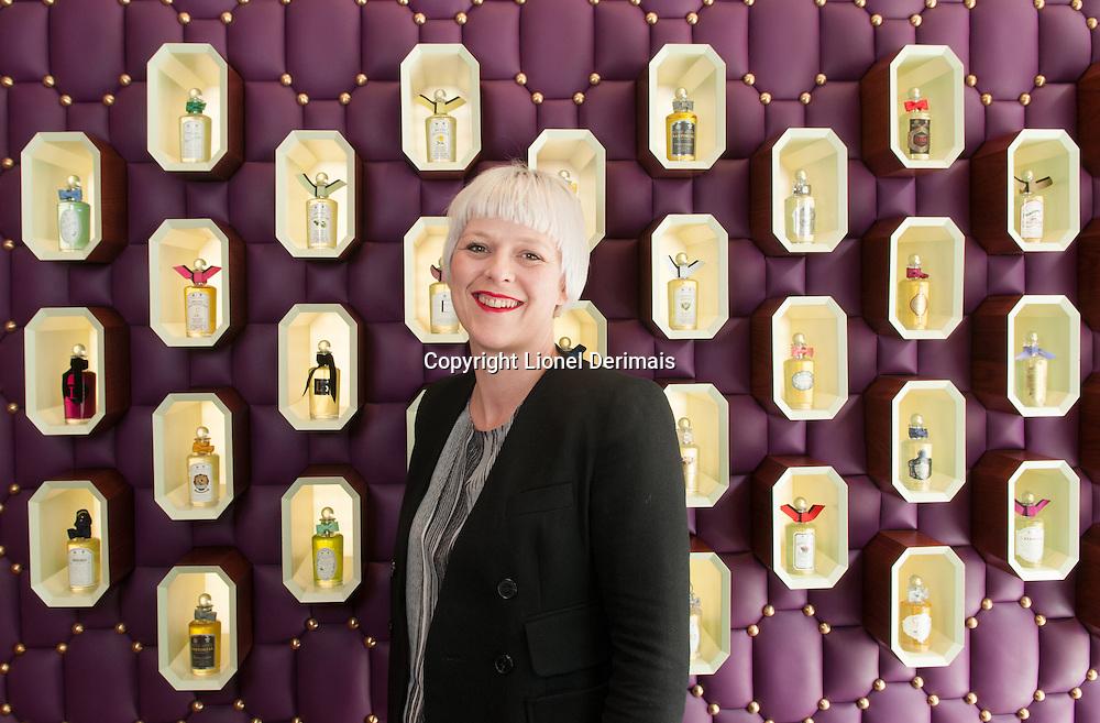 Sarah Rotheram, Penhaligon's CEO. Penhaligon's, a British brand, have been perfumers since 1870.