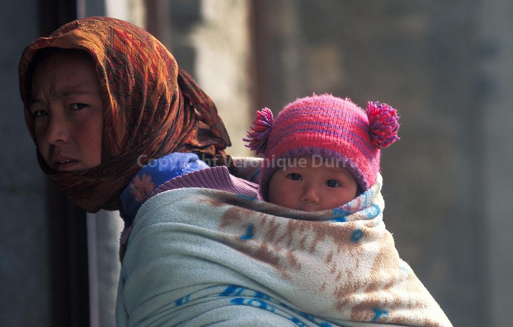 LADAKHI WOMAN AND BABY, INDIA