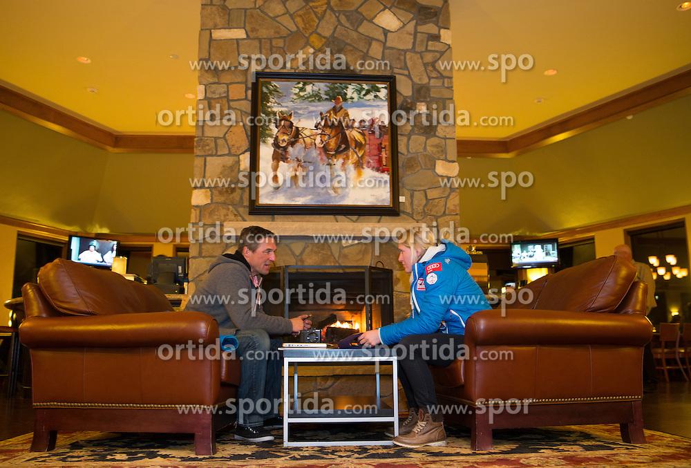 27.11.2013, Hotel Charter, Beaver Creek, USA, FIS Ski Weltcup, Beaver Creek, Pressegespraech OeSV Damenteam, im Bild Juergen Kriechbaum (Sportlicher Leiter OeSV Damen Skiteam), Andrea Fischbacher (AUT) // Headcoach of Ski Austria Ladies Team Juergen Kriechbaum and Andrea Fischbacher of Austria during the press conference of Austrian ladies Ski Team of the Beaver Creek ladies FIS Ski Alpine World Cup at the Charter Hotel in Beaver Creek, United States on 2012/11/27. EXPA Pictures © 2013, PhotoCredit: EXPA/ Johann Groder