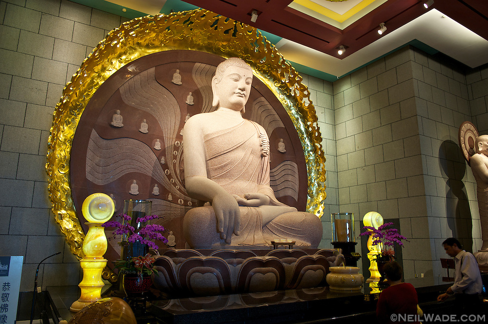 The Great Majestic Hall has many beautiful statues of the Buddha.