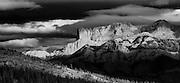 Landscape photographs of Jasper Lake, AB, Canada