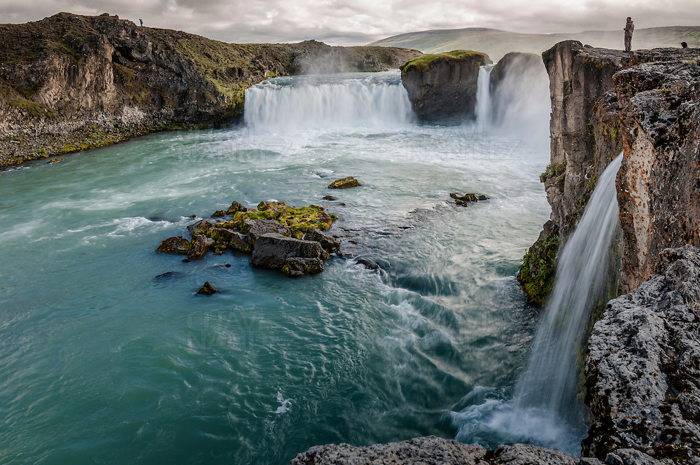Godafoss or waterfall of the Gods, is on the river Skjalfandafjot. North Iceland