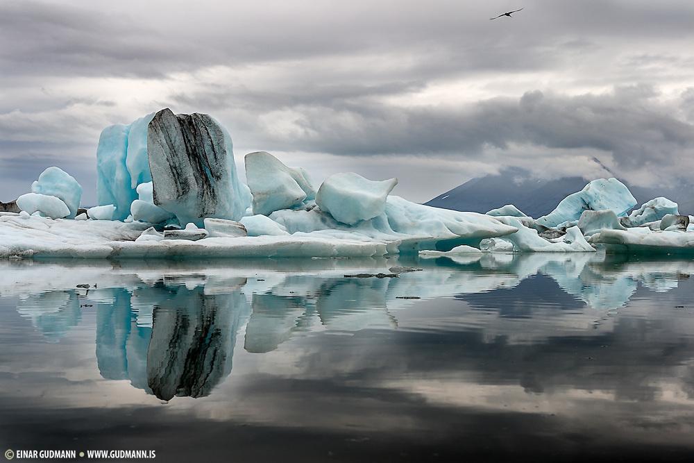 Jokulsarlon glacier lagoon in Iceland.