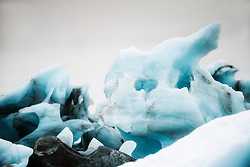 Glacier ice drifting south of Austfonna, the third largest ice cap in the world. Svalbard, Norway