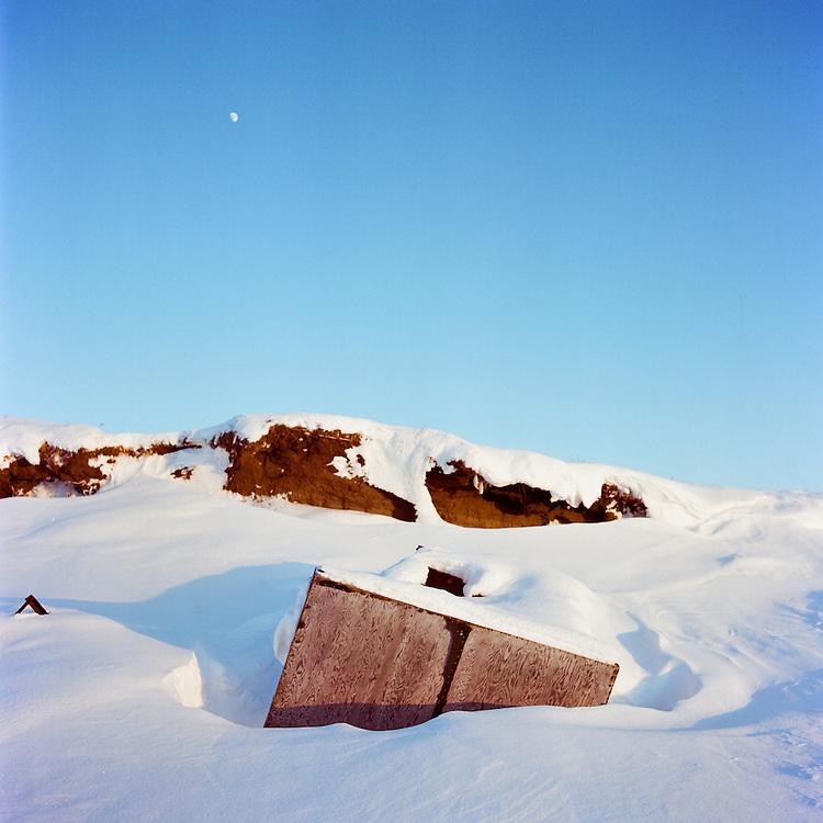 SHISHMAREF, ALASKA - 2010: Coastal Erosion.