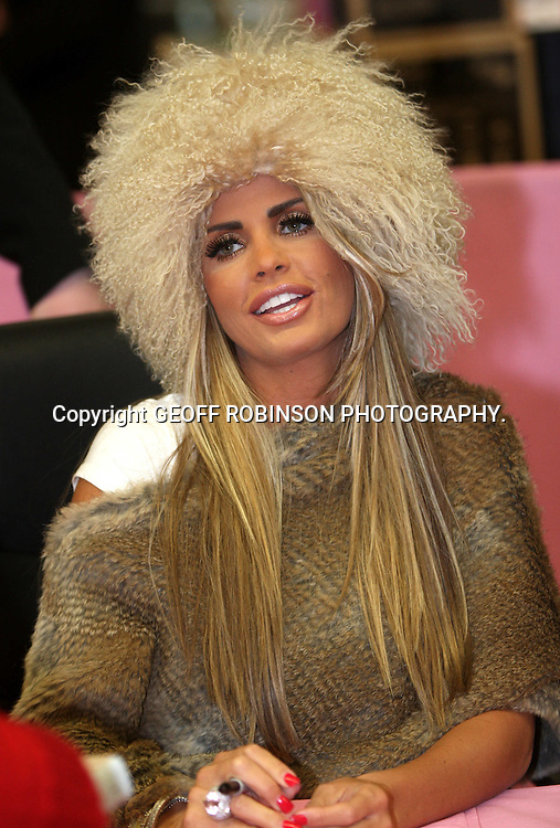 """KATIE PRICE  (JORDAN) AT ASDA MILTON KEYNES,BUCKS,ON THURSDAY AFTERNOON DOING HER BOOK SIGNING.. Fans queued to see model Katie Price at her last book signing for her fourth autobiography today (Thurs)...The 32-year-old was promoting her new book You Only Live Once at the Asda supermarket in Milton Keynes, Bucks...The book, which is dedicated to ex-husband Peter Andre, goes into detail about their split and her relationship with Alex Reid, who she has now separated from...In the past Katie has brought her children along to book signings but today there was no sign of them...Yesterday (Wed) she posted a statement on her website saying she was removing Princess and Junior from the public eye...""""Many people have asked me about or commented on my attempts to remove Junior and Princess from the public eye and in particular my decision that they will not feature in my Living TV Show or photo-shoots...""""Firstly, I want to make it clear that if paparazzi pictures appear of Junior and Princess they will be without my permission. ..""""I am hopeful that the paparazzi and the media organisations that publish their pictures will respect what I am trying to achieve...""""My decision to do this is made purely in the interests of Junior and Princess."""