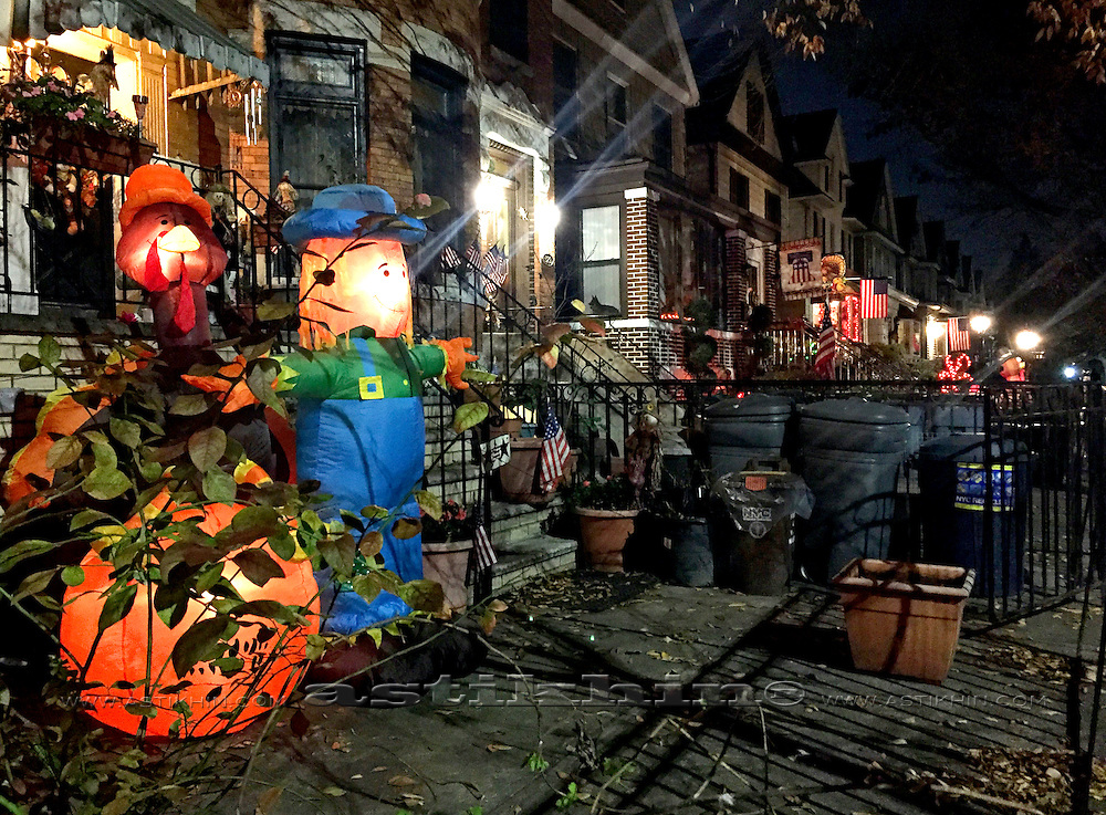 Thanksgiving decoration in Brooklyn, NYC.