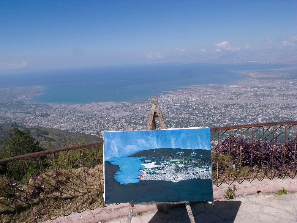 A view of Port Au Prince from Boutilliers, Haiti. 01.31.2009 Photo by Ben Depp.