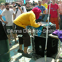 Octopus Project.@Helio and JellyNYC Pool Party.7/8/07....©Anna DiNardo-Smith/Photopass.