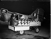 1956 - Unloading of lawnmowers from Aer Lingus DC3 at Dublin Airport