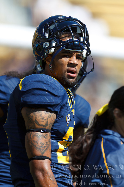 BERKELEY, CA - SEPTEMBER 08: Wide receiver Keenan Allen #21 of the California Golden Bears warms up before the game against the Southern Utah Thunderbirds at Memorial Stadium on September 8, 2012 in Berkeley, California. The California Golden Bears defeated the Southern Utah Thunderbirds 50-31. (Photo by Jason O. Watson/Getty Images) *** Local Caption *** Keenan Allen
