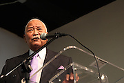 17 January 2011- Harlem, NY-  Former New York City Mayor David Dinkins at The National Action Network Martin Luther King Day Celebration held at The House of Justice on January 17, 2011 in Harlem, New York City. Photo Credit: Terrence Jennings