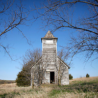 The Methodist church in Monowi, Nebraska stands abandoned April 28, 2011. Over 100 years old, the last event at the church was the funeral of the father of the town's one resident in 1960. At its peak in the 1930's the town had 150 people but after the railroad left it began to decline. Now down to a population of just one, Monowi is the only incorporated town, village or city in the United States with just a single resident, Elsie Eiler, 77.   REUTERS/Rick Wilking (UNITED STATES)